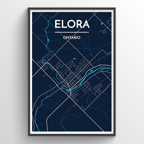 Affordable wholesale art prints of Elora - City Map Art Print