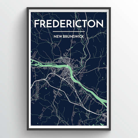 Affordable wholesale art prints of Fredericton - City Map Art Print