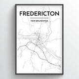 Fredericton City Map