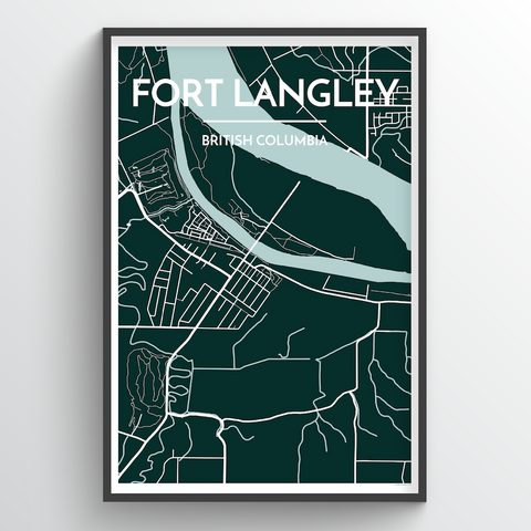 Affordable wholesale art prints of Fort Langley - City Map Art Print
