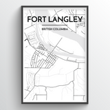Fort Langley City Map