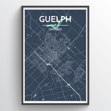 Affordable wholesale art prints of Guelph - City Map Art Print