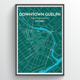 Downtown Guelph City Map