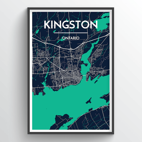 Affordable wholesale art prints of Kingston - City Map Art Print