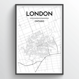 London Ontario City Map