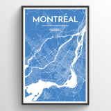 Affordable wholesale art prints of Montreal - City Map Art Print