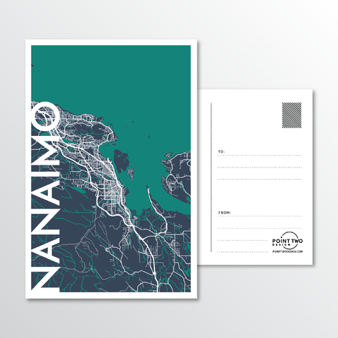 Affordable wholesale postcards of Nanaimo - Illustrated Province Art
