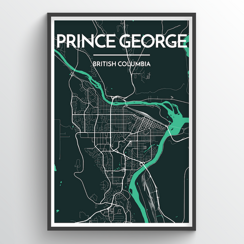 Affordable wholesale art prints of Prince George - City Map Art Print