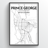 Prince George City Map