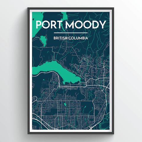 Affordable wholesale art prints of Port Moody - City Map Art Print