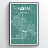 Affordable wholesale art prints of Regina - City Map Art Print
