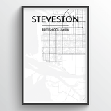 Steveston Map Art
