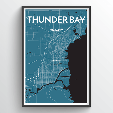 Affordable wholesale art prints of Thunder Bay - City Map Art Print