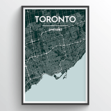 Affordable wholesale art prints of Toronto - City Map Art Print