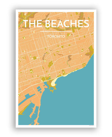 Toronto Neighborhood Map Prints