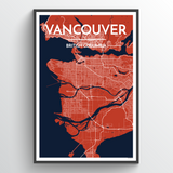 Vancouver Map Art