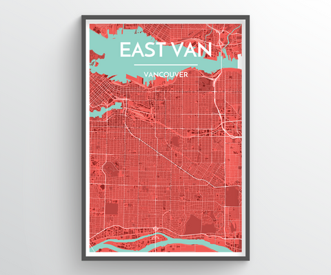East Vancouver Map Art