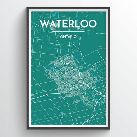 Affordable wholesale art prints of Waterloo - City Map Art Print