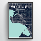 Affordable wholesale art prints of White Rock - City Map Art Print