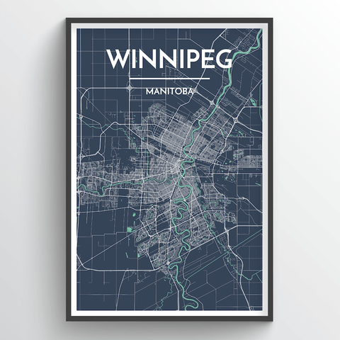 Affordable wholesale art prints of Winnipeg - City Map Art Print