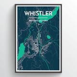 Affordable wholesale art prints of Whistler - City Map Art Print