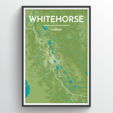 White Horse City Map Print