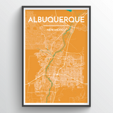 Affordable wholesale art prints of Albuquerque - City Map Art Print