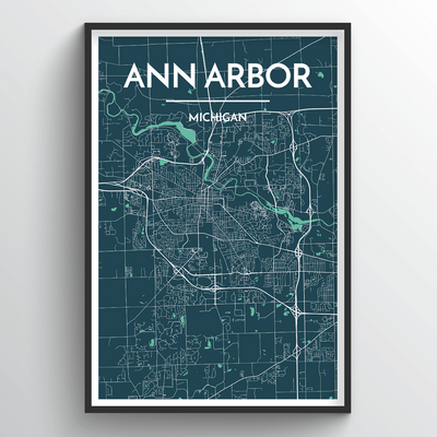 Ann Arbor Map Art