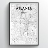 Atlanta Map Art
