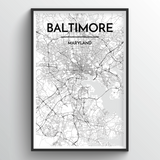Baltimore Map Art