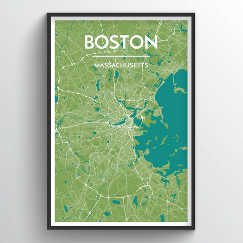 Affordable wholesale art prints of Boston - City Map Art Print