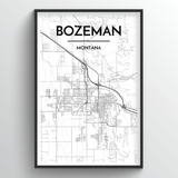 Bozeman Map Art