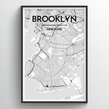 Brooklyn Map Art