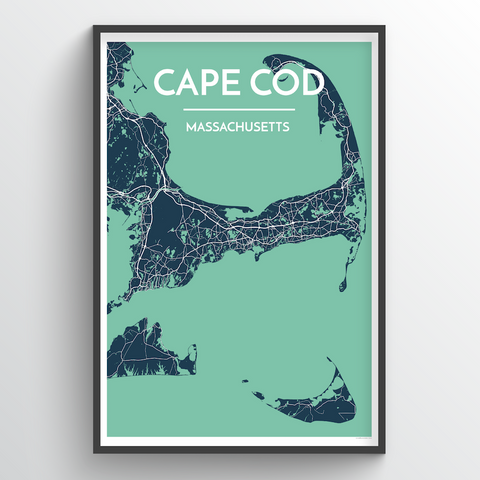 Affordable wholesale art prints of Cape Cod - City Map Art Print