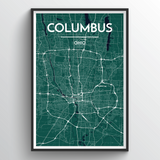 Affordable wholesale art prints of Columbus - City Map Art Print