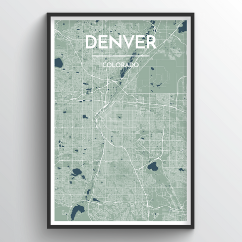 Affordable wholesale art prints of Denver - City Map Art Print