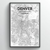 Denver Map Art