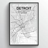 Detroit Map Art