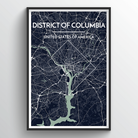 Affordable wholesale art prints of District of Columbia - City Map Art Print