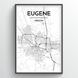 Eugene City Map