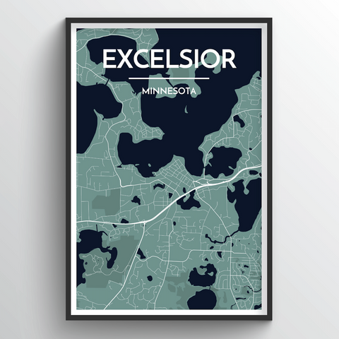 Affordable wholesale art prints of Excelsior - City Map Art Print
