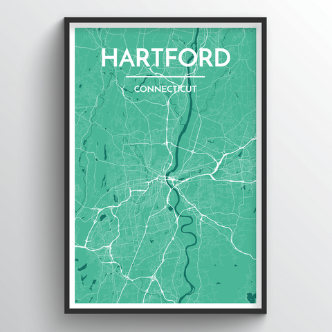 Affordable wholesale art prints of Hartford - City Map Art Print