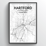 Hartford Map Art