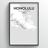 Honolulu Map Art