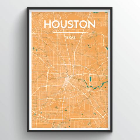 Affordable wholesale art prints of Houston - City Map Art Print