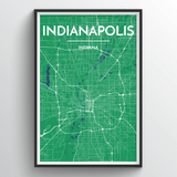 Affordable wholesale art prints of Indianapolis - City Map Art Print