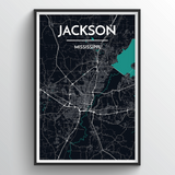 Affordable wholesale art prints of Jackson - City Map Art Print