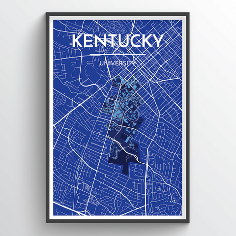 Affordable wholesale art prints of Kentucky University - City Map Art Print