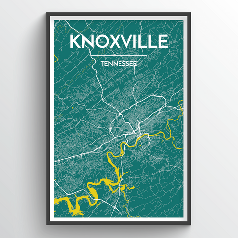 Affordable wholesale art prints of Knoxville - City Map Art Print
