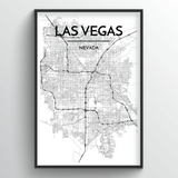 Las Vegas Map Art